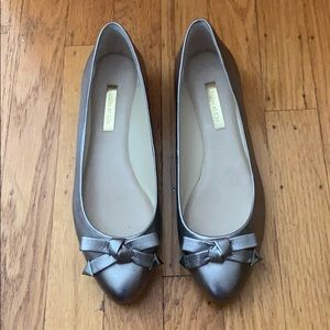 Louise et Cie silver leather flats bow 7